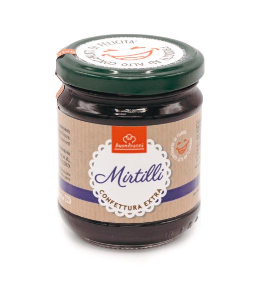 Confettura extra di mirtilli (220 g)